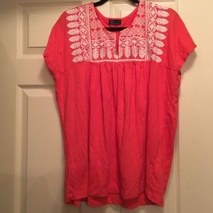Peasant Knit Embroidered Top